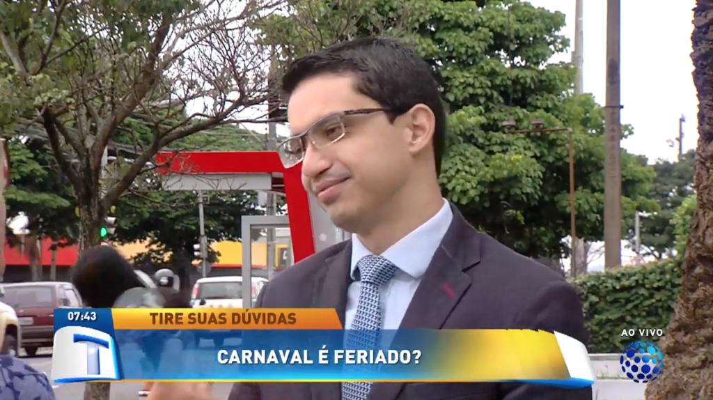 Em entrevista, Felipe Alcântara tira dúvidas sobre o feriado de Carnaval