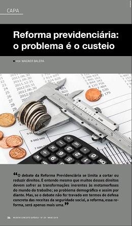 Revista Jurídica publica artigo do professor Wagner Balera sobre a Reforma da Previdência