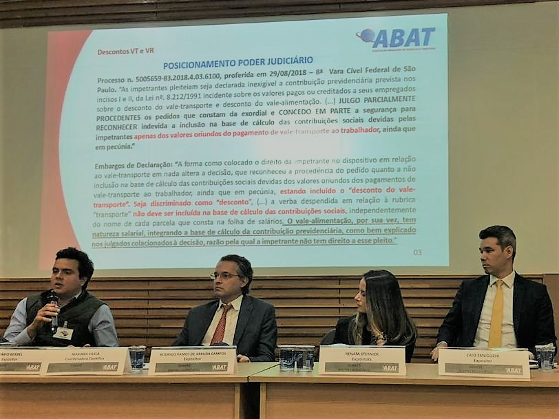 Sócio do Balera Advogados palestra em seminário da Associação Brasileira de Advocacia Tributária